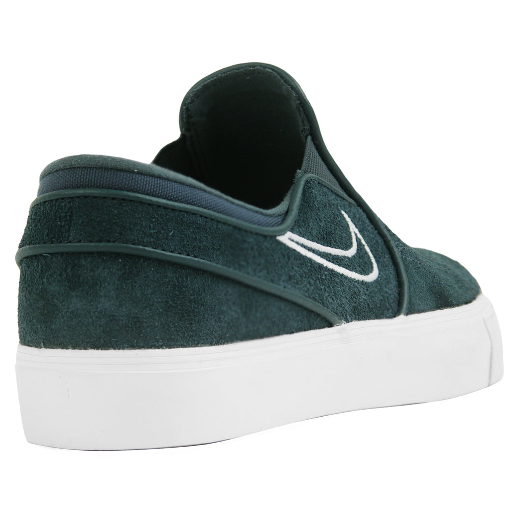72927cfb051a Nike SB Zoom Stefan Janoski Slip Shoes in Deep Jungle   Barely Grey - White  -