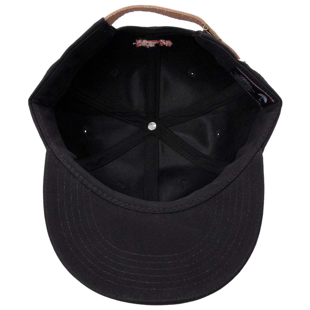 Helas Classic Logo 6 Panel Cap in Black - Inside