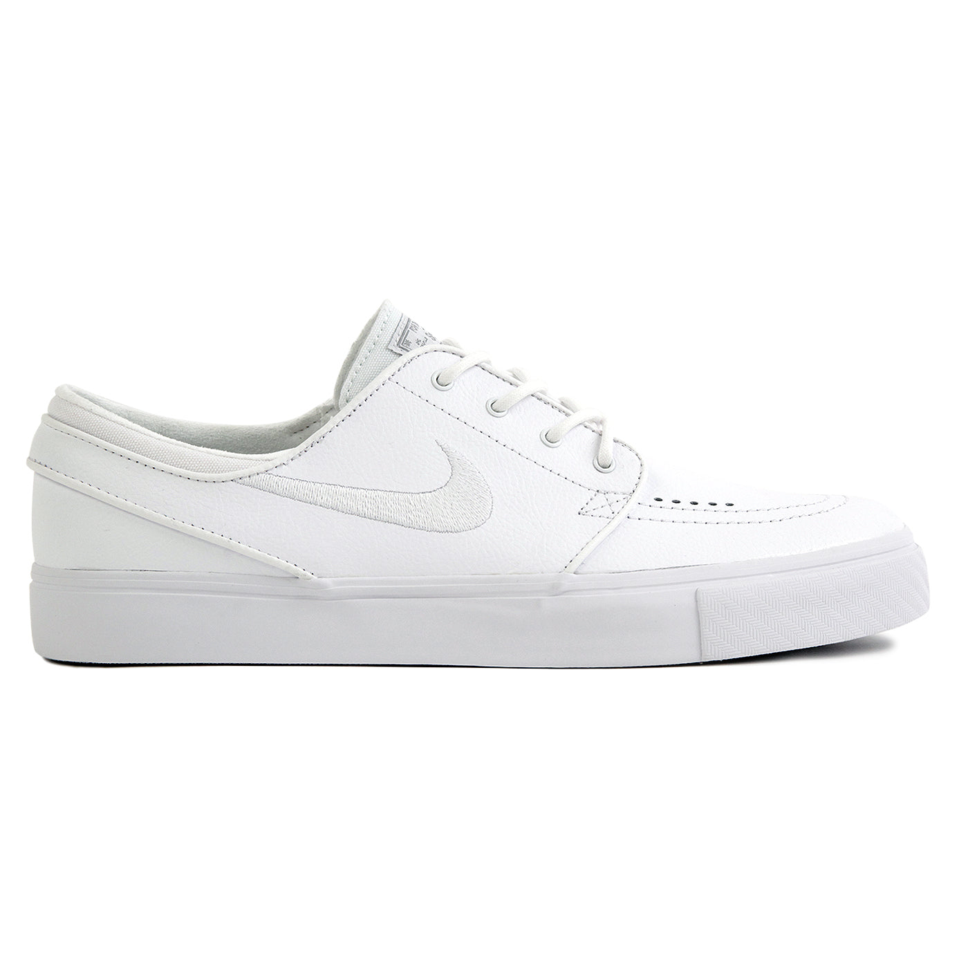 8c293bfaee50 Stefan Janoski Leather Shoes in White   White   Wolf Grey by Nike SB ...