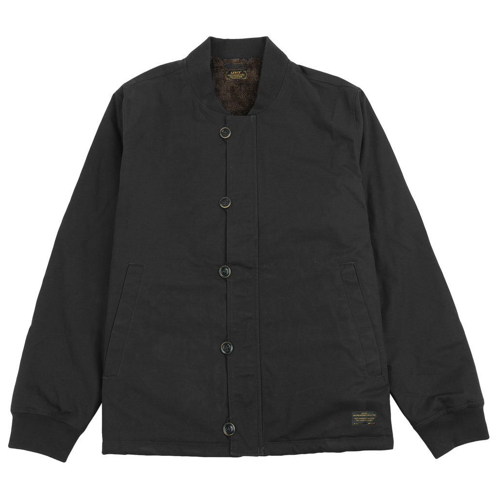 Levis Skateboarding Skate Pile Jacket in Jet Black