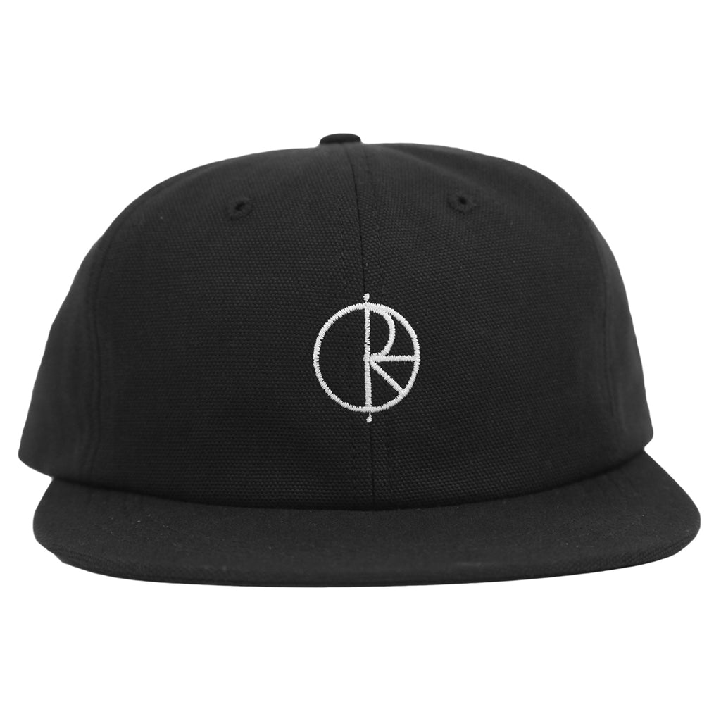 Polar Skate Co Canvas Cap in Black - Front