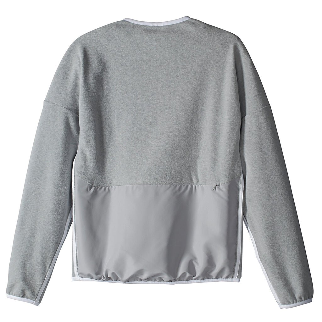 Palace x Adidas Fleece Crew Neck Sweatshirt in Stone - Back