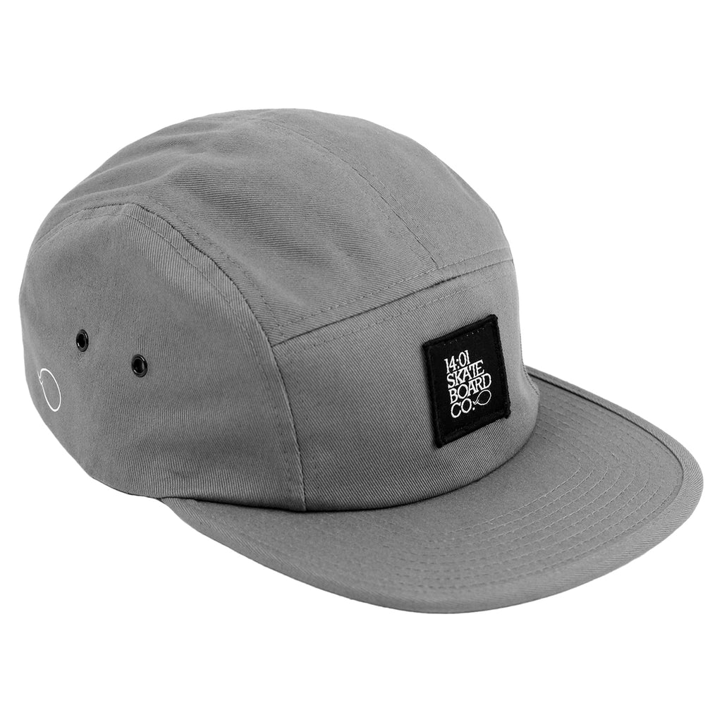 14:01 Skateboard Co BACK2BASICS 5 Panel Cap in Grey