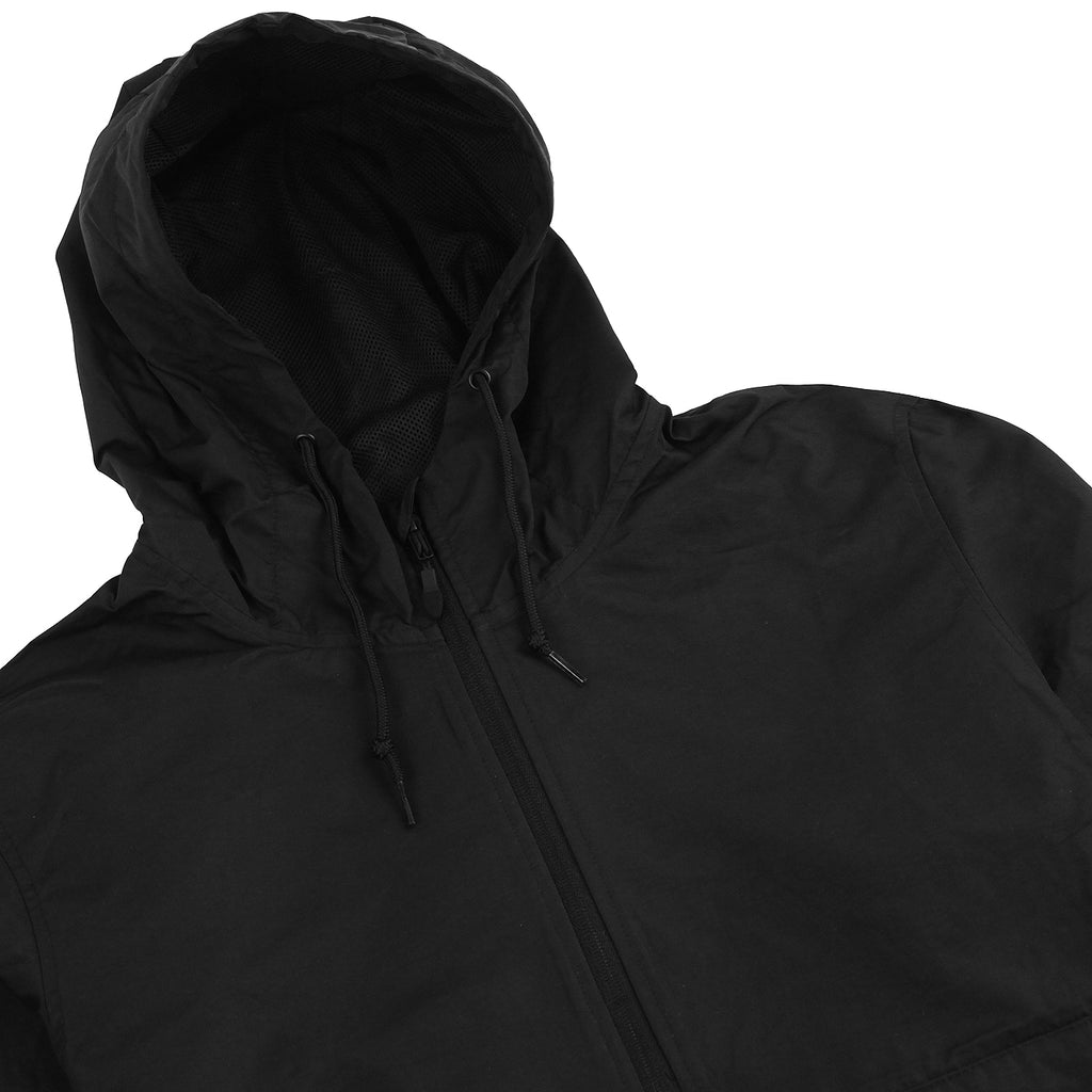 Bored of Southsea BDG Windbreaker Anorak Jacket in Black - Detail