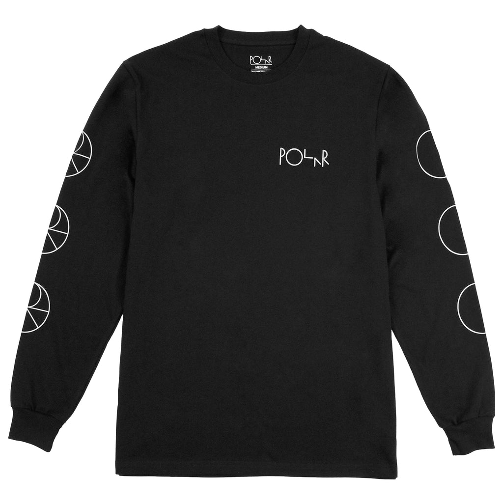 Polar Skate Co Reflective Racing L/S T Shirt in Black / Reflective Silver