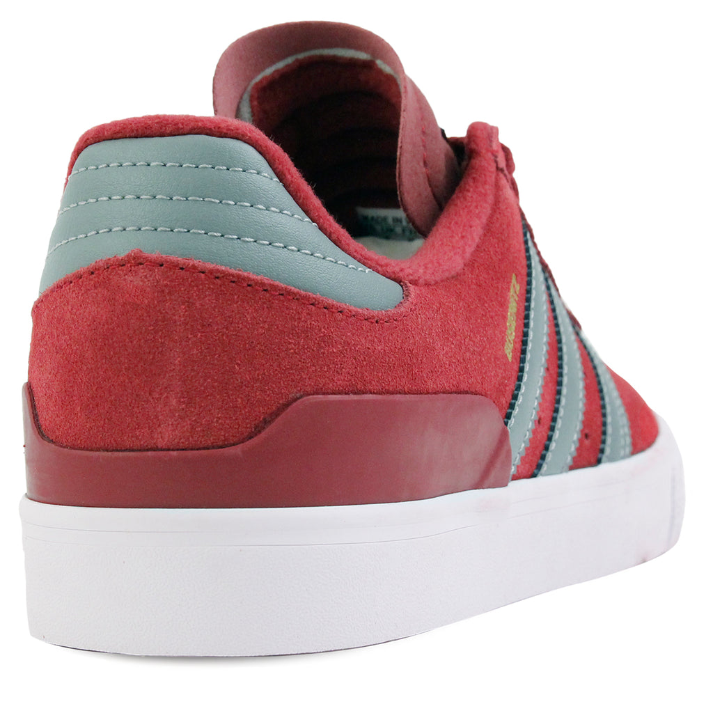 Adidas Skateboarding Busenitz Vulc Shoes in Collegiate Burgundy / CH Solid Grey / FTW White - Heel