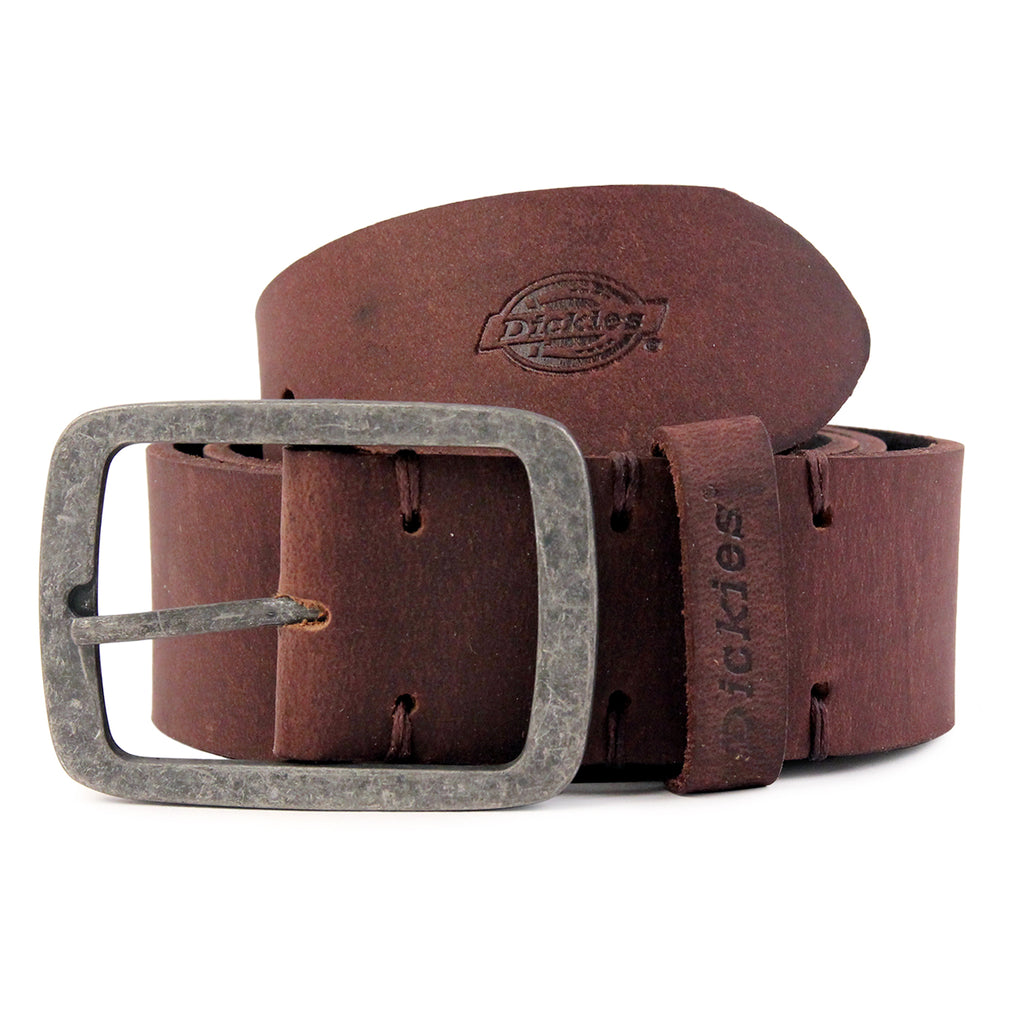 Dickies Eagle Lake Leather Belt in Brown