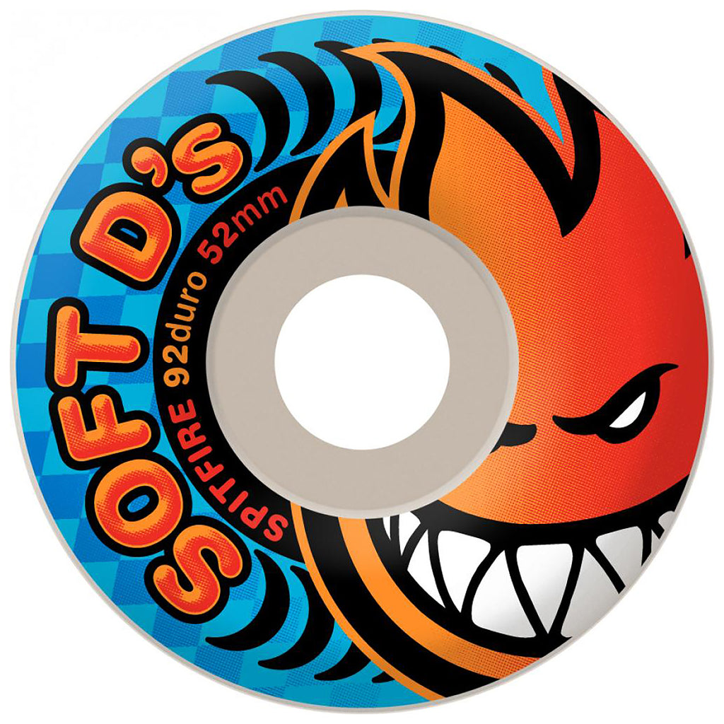 Spitfire Wheels Soft D's Skateboard Wheels 92a in White