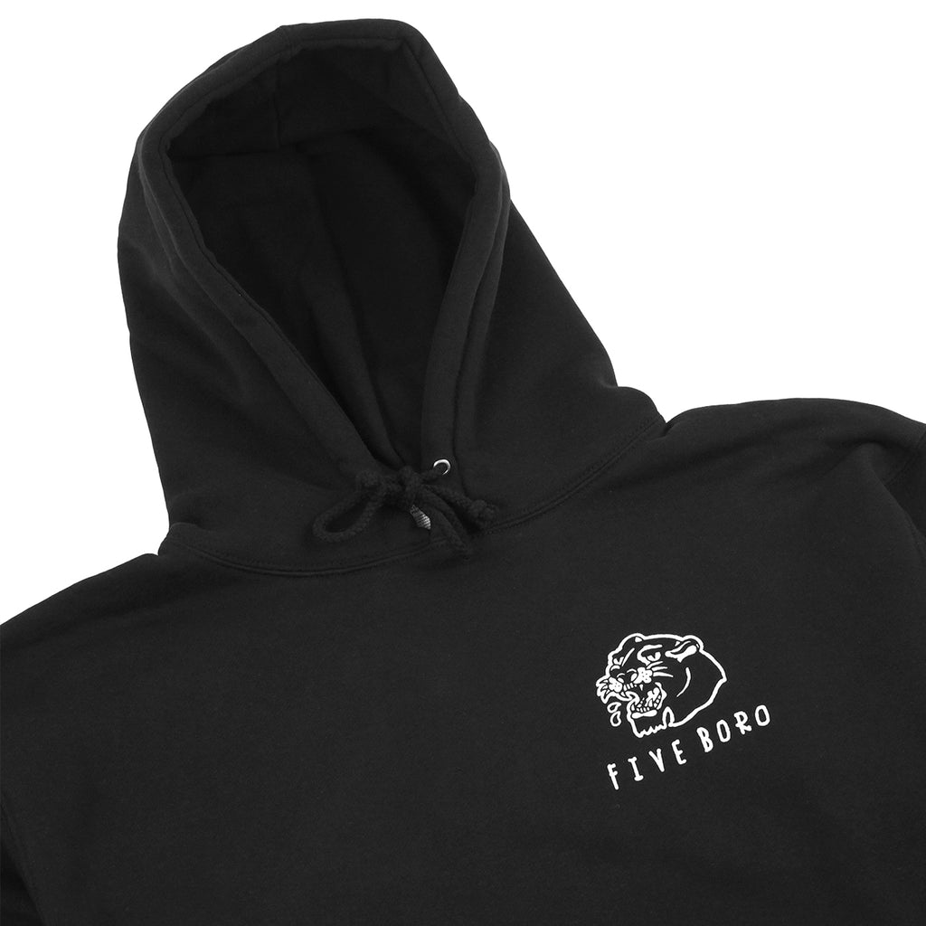 5Boro Panther Hoodie in Black - Detail