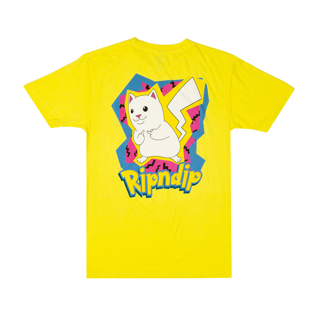 RIPNDIP Catch Em All T Shirt in Yellow