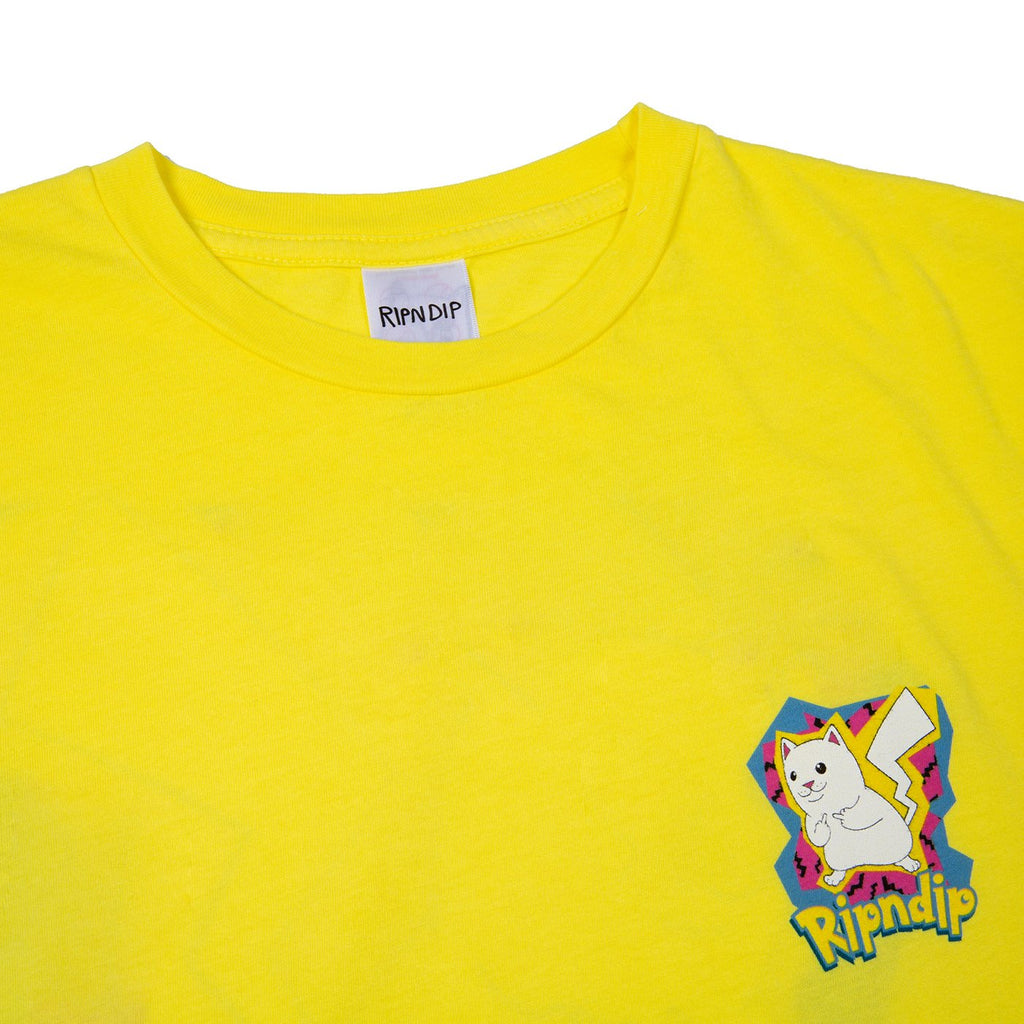 RIPNDIP Catch Em All T Shirt in Yellow - Detail