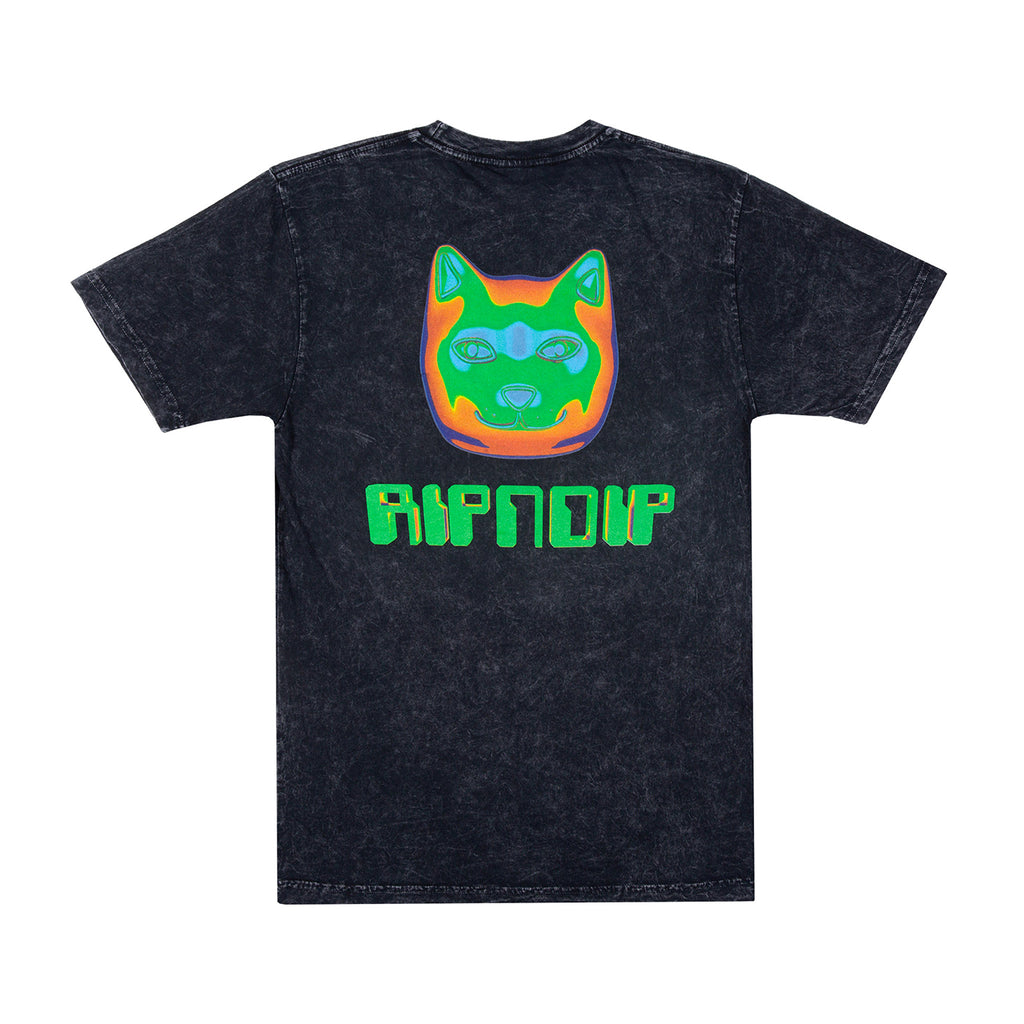 RIPNDIP Thermal Nermal T Shirt in Black Vintage Wash