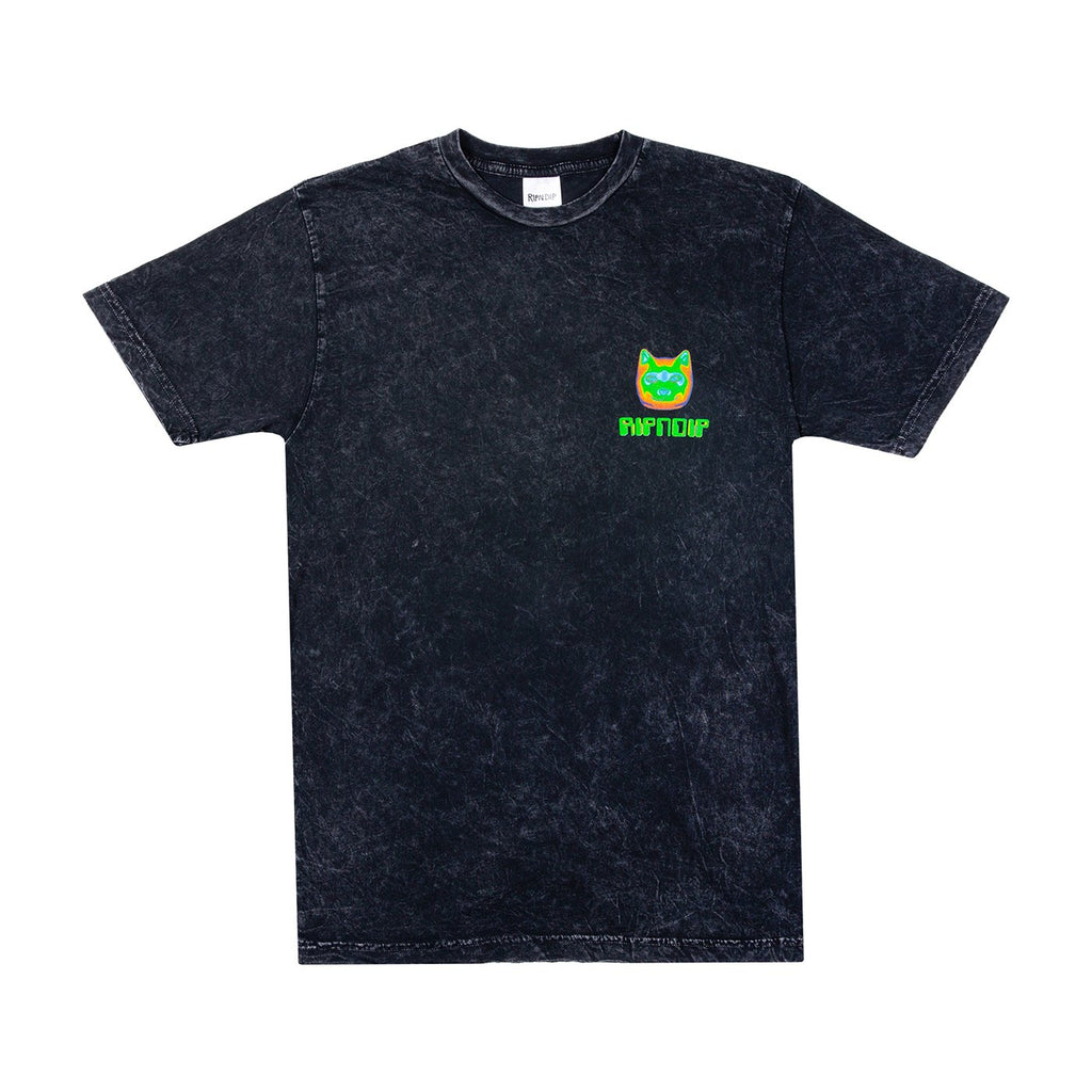RIPNDIP Thermal Nermal T Shirt in Black Vintage Wash - Front