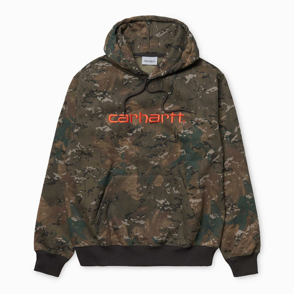 Carhartt WIP Hooded Carhartt Sweat  Camo Combi / Safety Orange