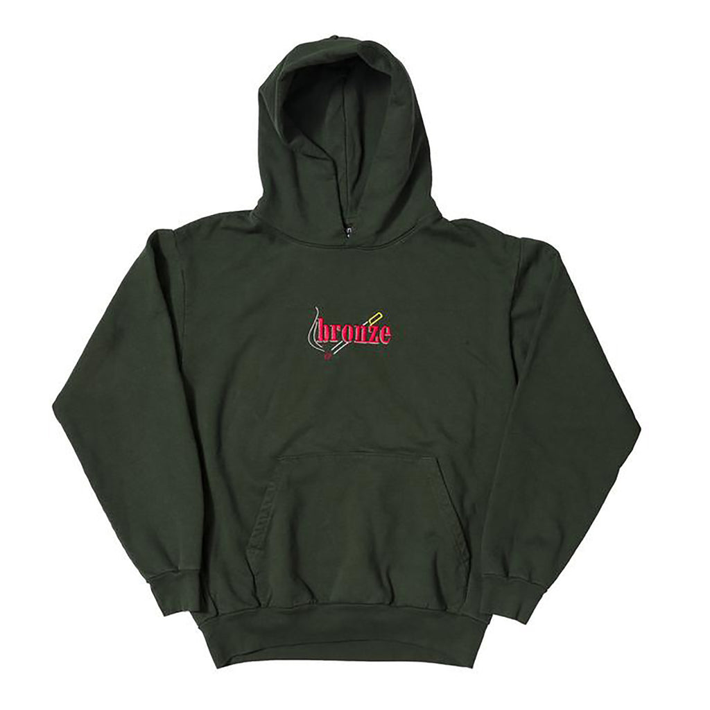 Bronze 56k Embroidered Smoke Hoodie in Dark Green