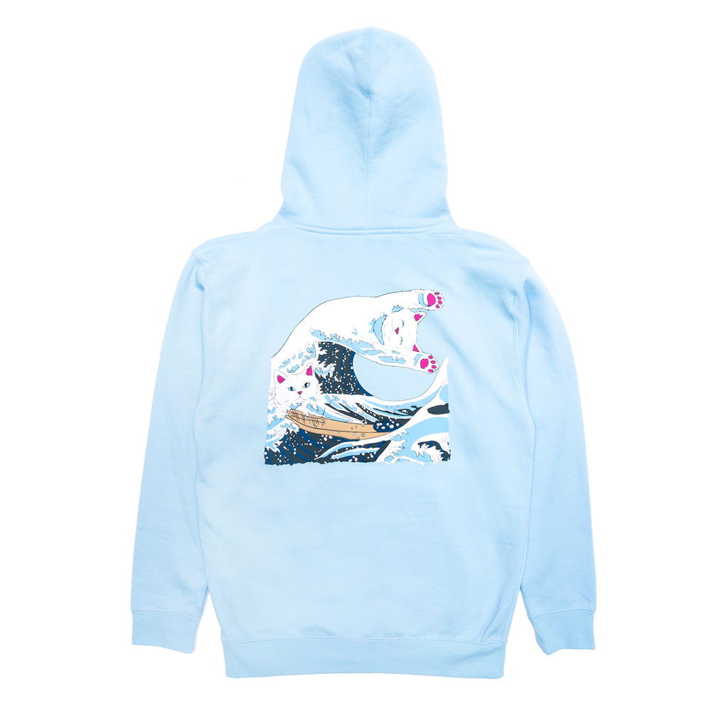 RIPNDIP Great Wave Hoodie in Baby Blue