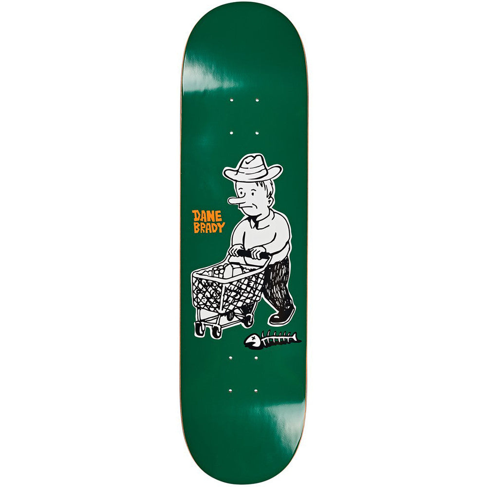"Polar Skate Co Dane Brady Shopping Spree Skateboard Deck Green 8.25"" - Bottom"