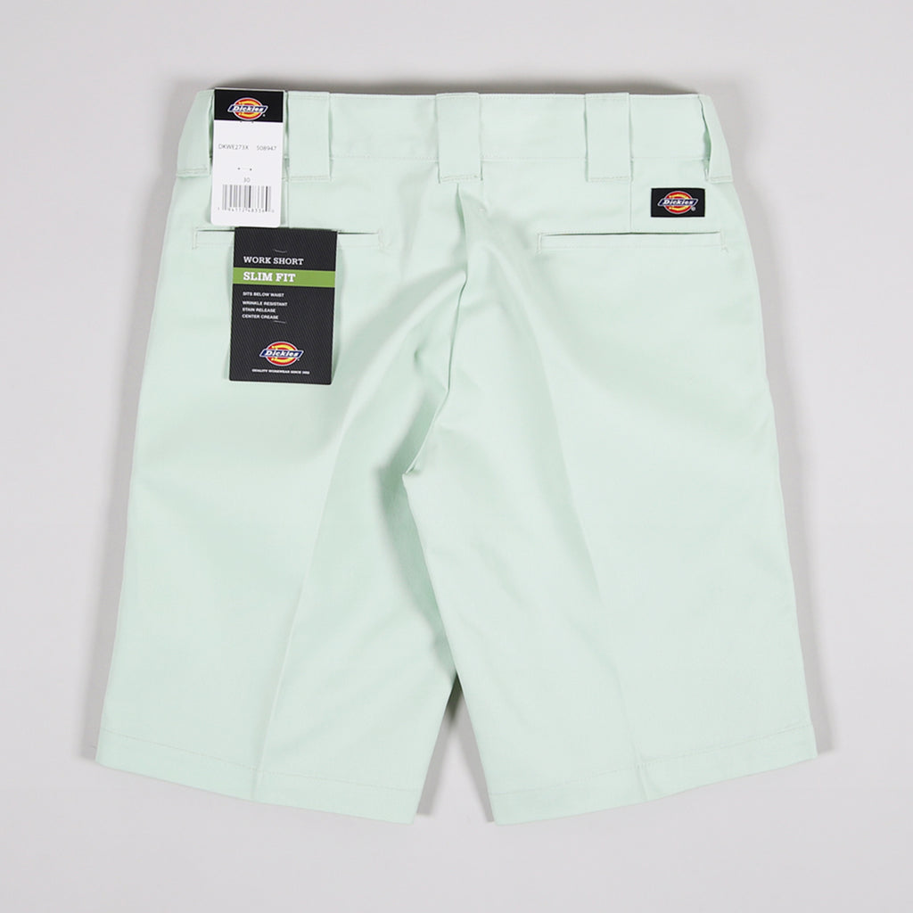 Dickies 273 Slim Fit Work Shorts Mint - Back
