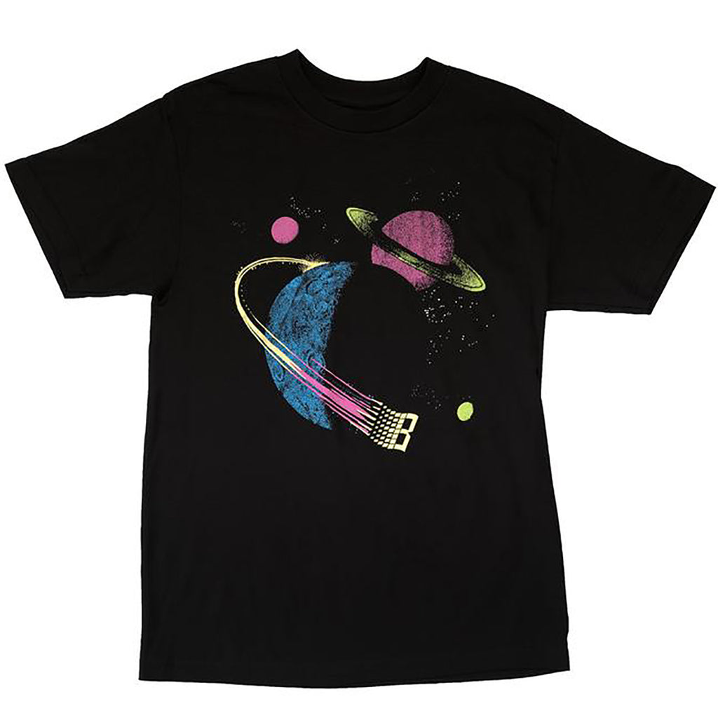Bronze 56k Galaxy T Shirt in Black / Glow in the Dark