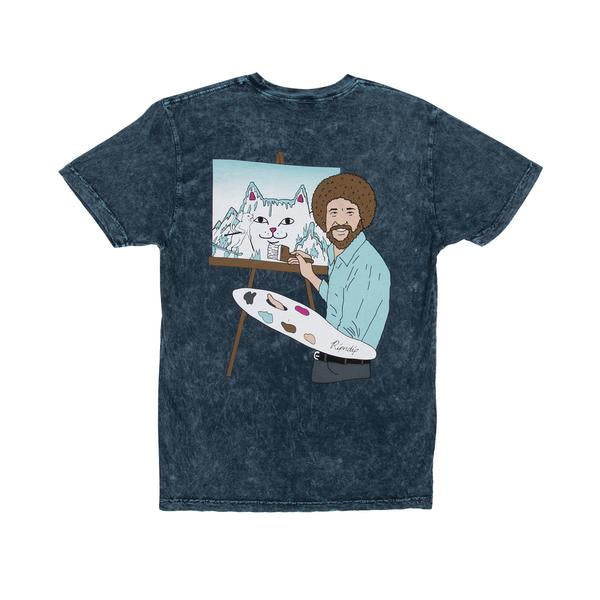 RIPNDIP Ross T Shirt in Blue Mineral Wash