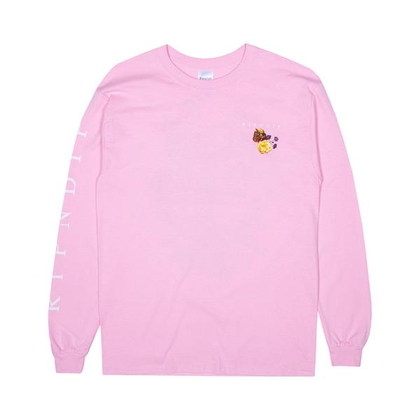 RIPNDIP Heavenly Bodies L/S T Shirt in Pink - Front