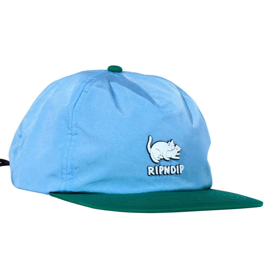 RIPNDIP Two Nerms 5 Panel Rope Hat in Blue / Green