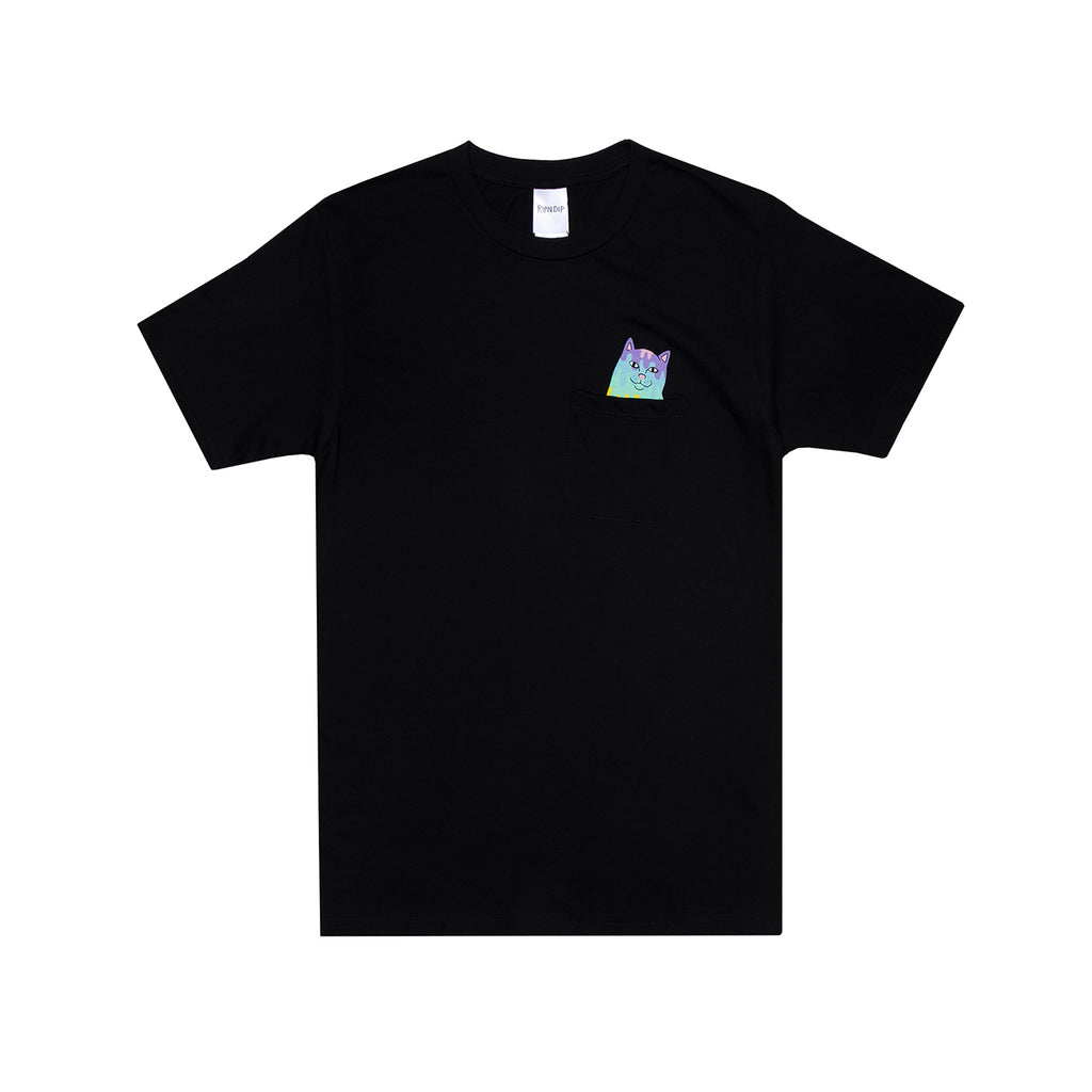 RIPNDIP Rainbow Nermal Pocket T Shirt in Black
