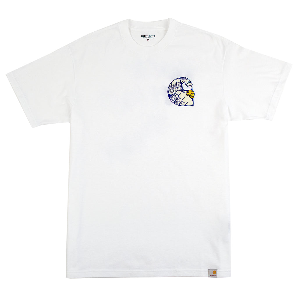 Carhartt Time Is Up T Shirt in White - Front