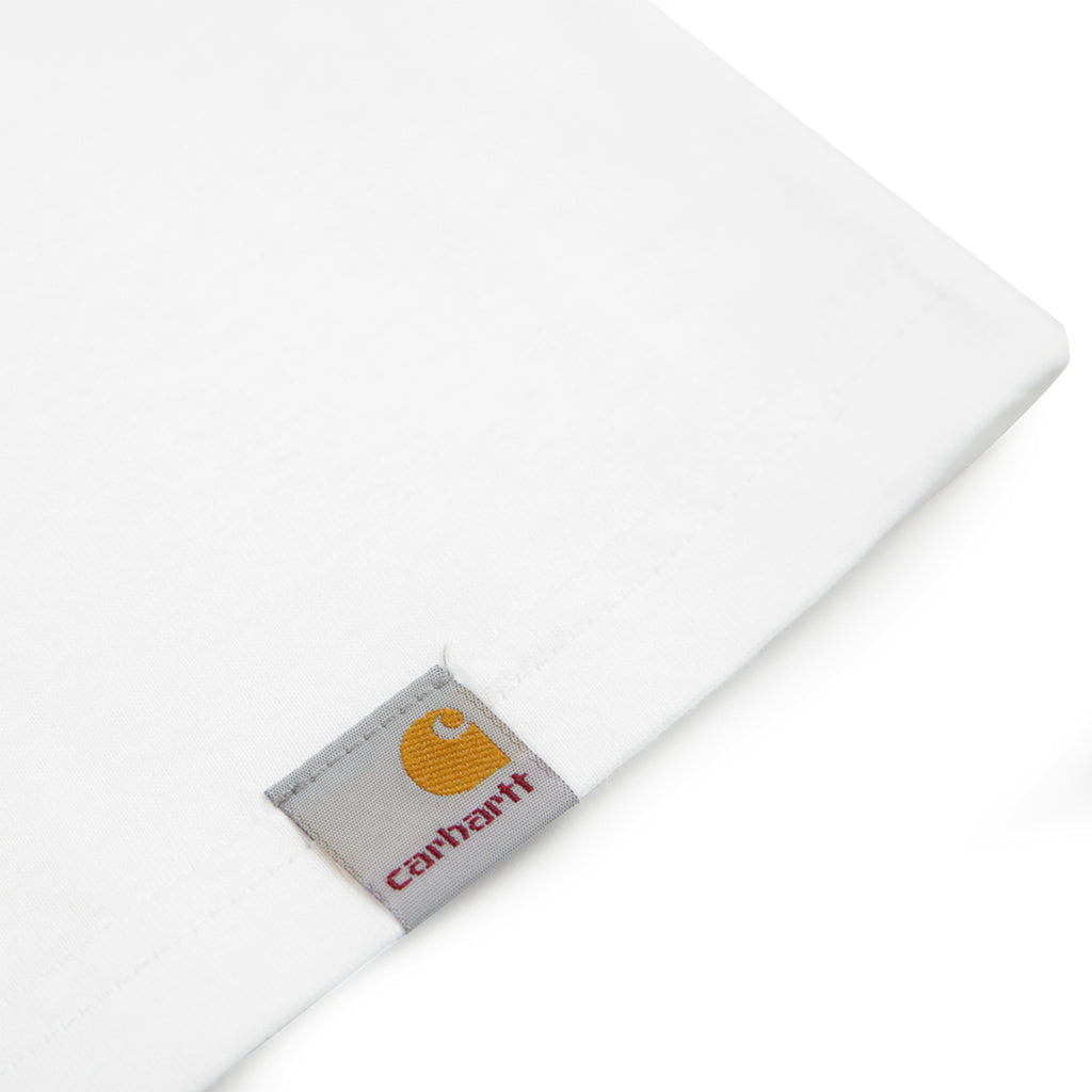 Carhartt Time Is Up T Shirt in White - Label
