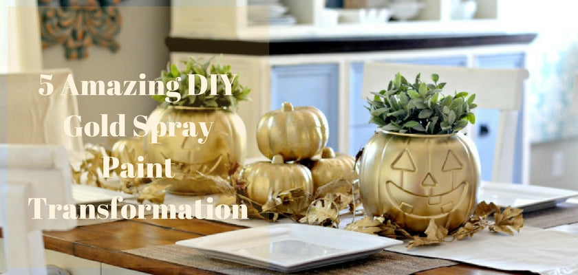 5 Amazing DIY Gold Spray Paint Transformation