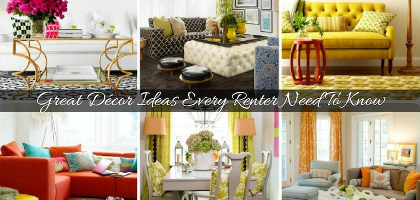 Decoration Ideas Every Renter Need To Know