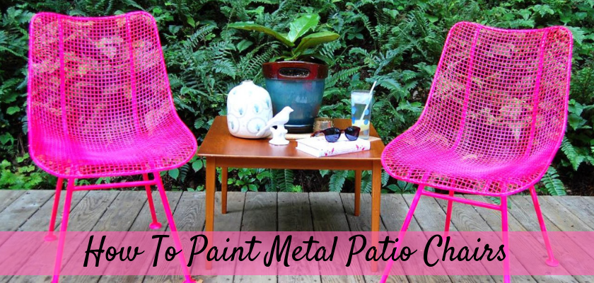 How To Paint Metal Patio Chairs
