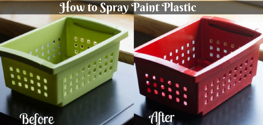 How to Spray Paint Plastic
