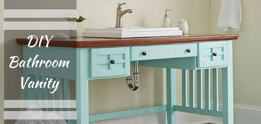 Step-by-Step DIY Tutorial of Bathroom Vanity Made From a Desk