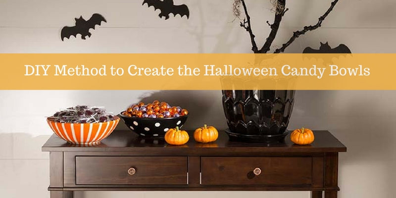 DIY Method to Create the Halloween Candy Bowls