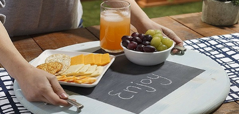 DIY Project with Chalkboard Paint: Handmade Serving Tray