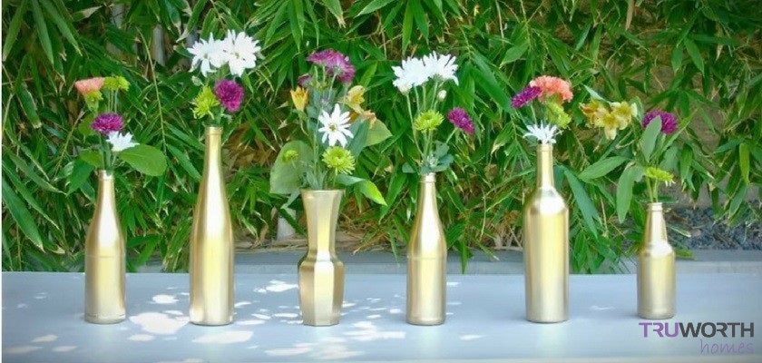 How to Convert Old Glass Bottles into Beautiful Flower Vases