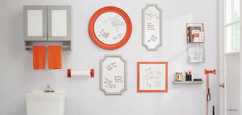 How to Convert Wall into Writable Erasable Picture Frame Station
