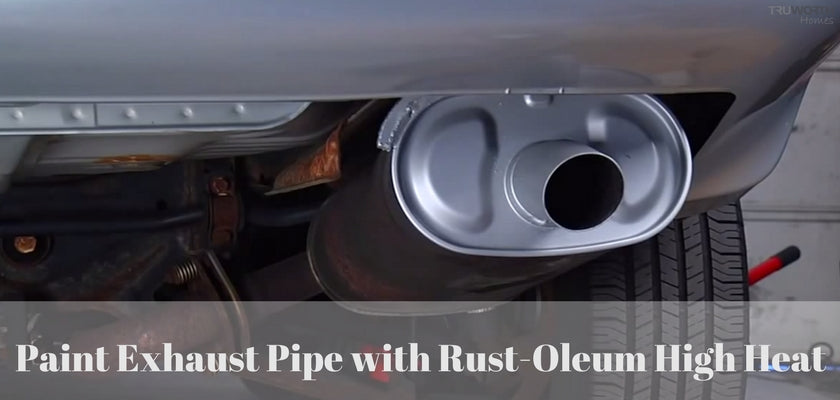 Paint Exhaust Pipe with Rust-Oleum High Heat: DIY Car Detailing