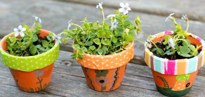 Add Texture to Flower Pots