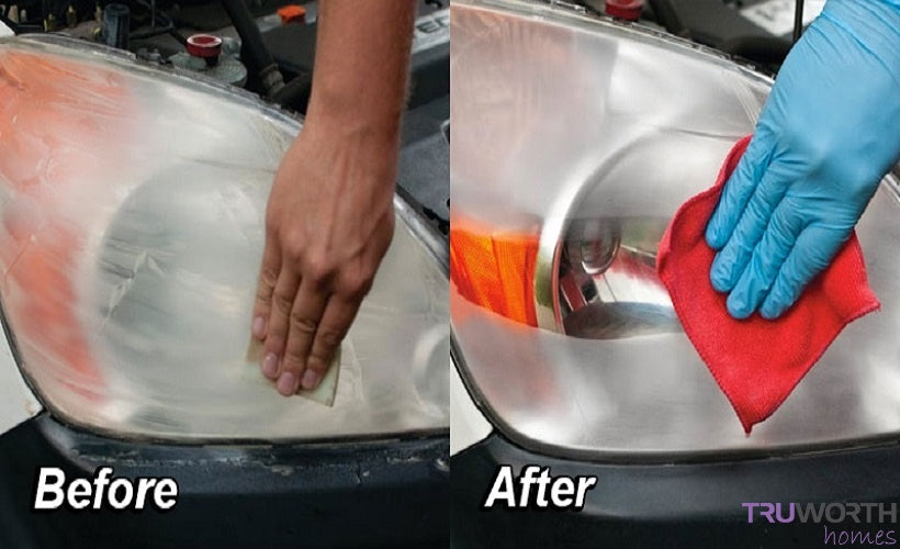 Before After Headlight Restoration Image