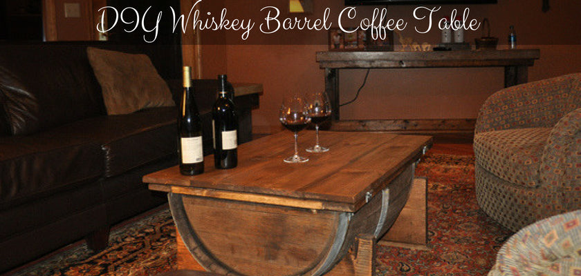 DIY: How to Build a Whiskey Barrel Coffee Table