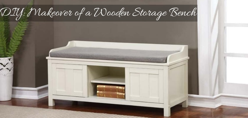 DIY Makeover of a Wooden Storage Bench
