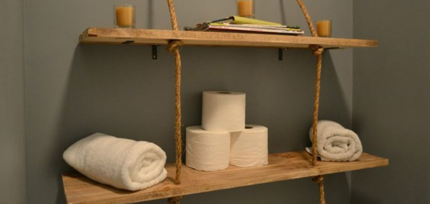 DIY Rustic Wooden Shelves