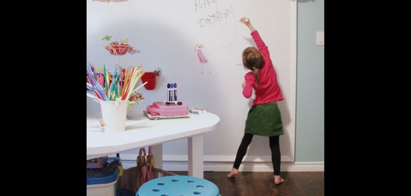 Dry Erase Wall or Table for Kids