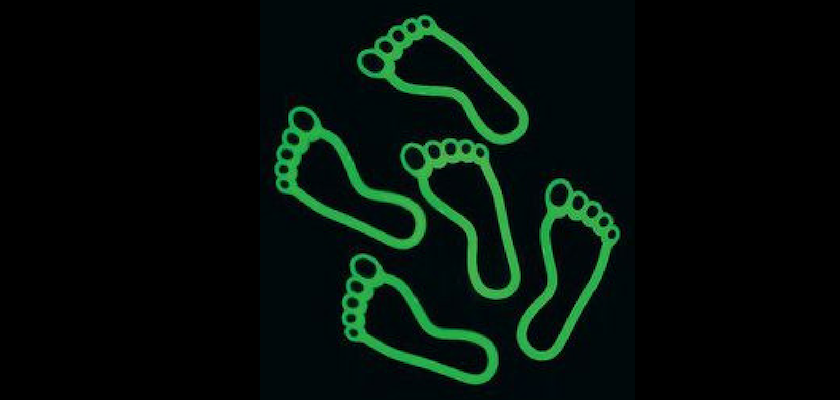 Glow in the Dark Footprints