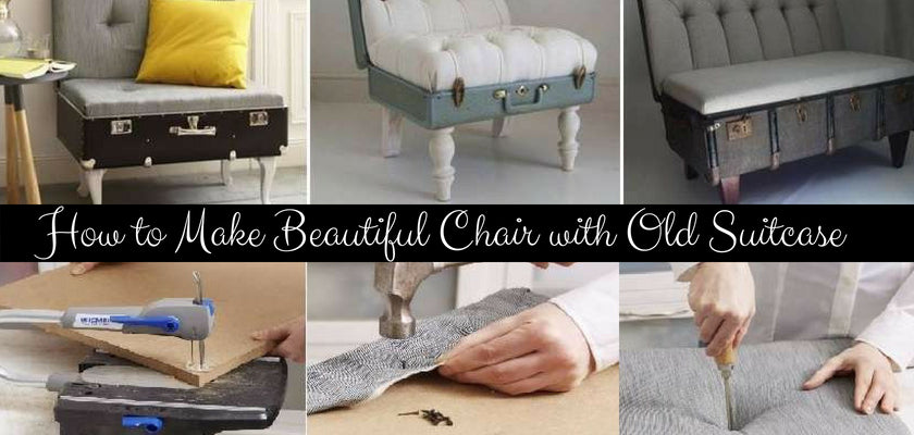 How to Make Beautiful Chair with Old Suitcase