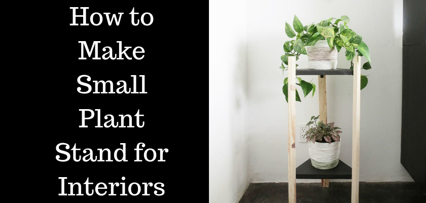 How to Make Small Plant Stand for Interiors