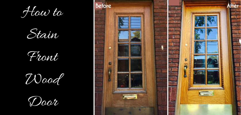 How to Stain Front Wood Door