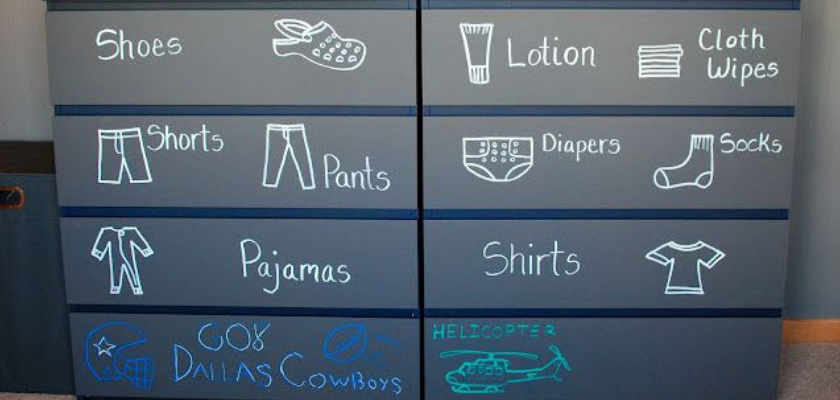 Labelling Drawers with Chalkboard
